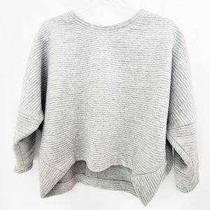 J.Crew Collection Gray Quilt Boxy Fit Sweater